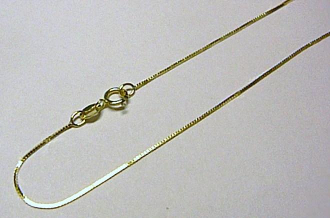 d35786c94 Moderní dámský zlatý kostičkovaný řetízek (Benátský) 40cm 585/0,80gr P593