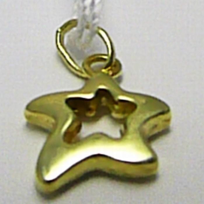 Zlatá hvězdička - přívěsek ze žlutého zlata 585/0,40gr T151