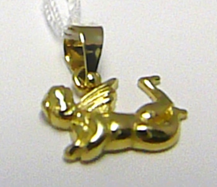 Zlatý andělíček - přívěsek zlatý anděl 585/0,8g H342