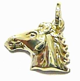 Zlatý přívěsek ze žlutého zlata - hlava koně 585/0,6gr T154