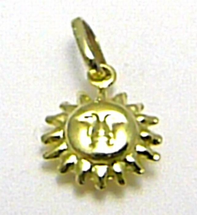 Zlatý přívěsek - zlaté sluníčko pro štěstí 585/0,70gr T156