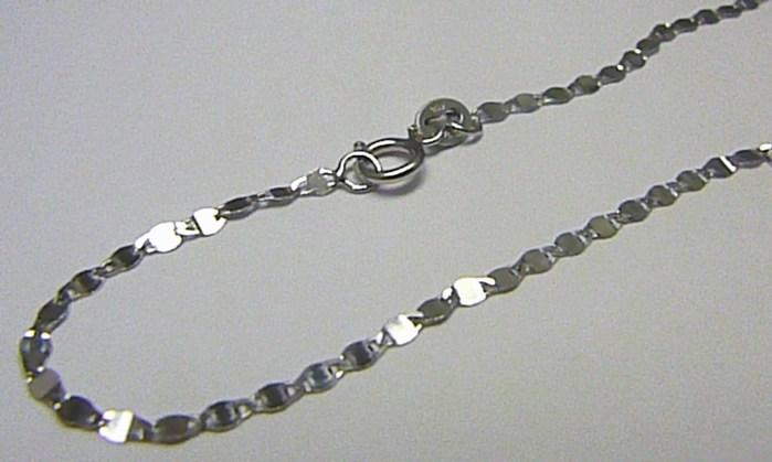 Dámský pevný zlatý náramek z bílého zlata 585/0,57gr 18cm H459