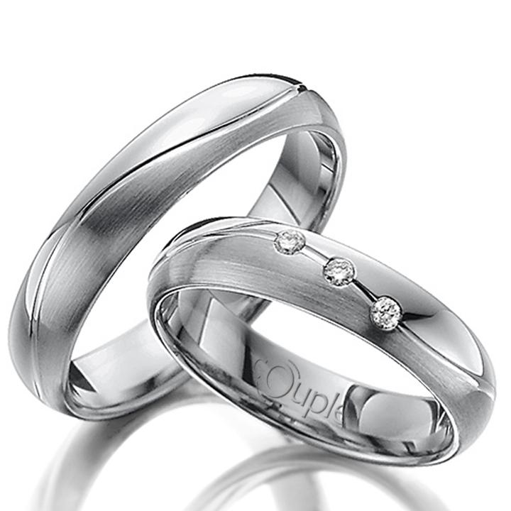 MAHOGANY snubní prsteny bílé zlato C 5 WN 3 (C 5 WN 3 )