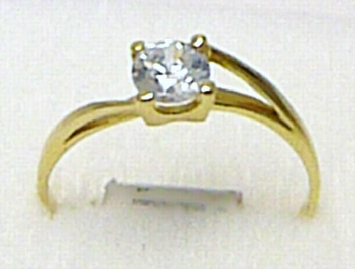 Luxusní zásnubní zlatý prsten s velkým zirkonem 585/1,22 gr vel. 56 P533 (4515042)