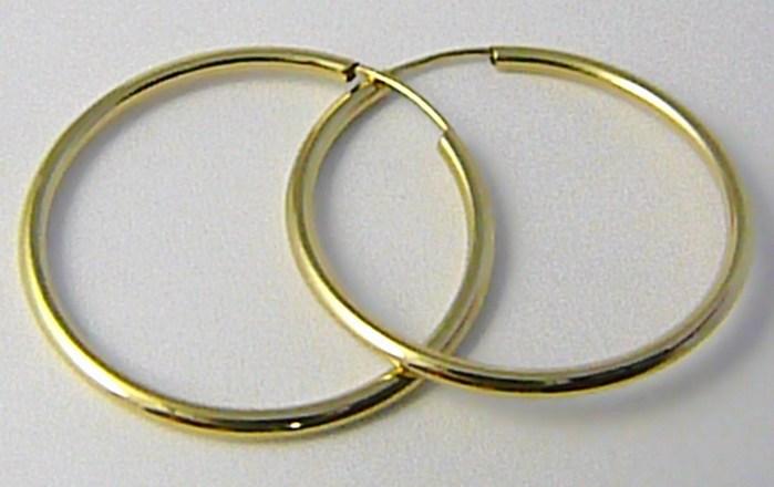 Dámské velké zlaté kruhy 26mm/2,6cm 585/0,77gr H575