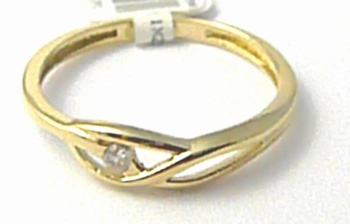 Dámský zlatý prsten se zirkonem vel.56 585/1,22 gr P561 POŠTOVNÉ ZDARMA!