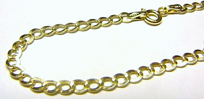 Pánský mohutný silný zlatý řetěz (náramek) 585/2,02gr 22cm H619