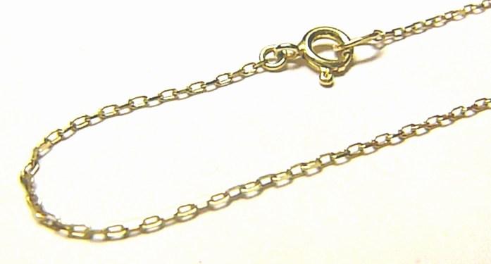 Zlatý pevný dětský řetízek ze žlutého zlata 38cm 585/1,10gr P686 (3640045)