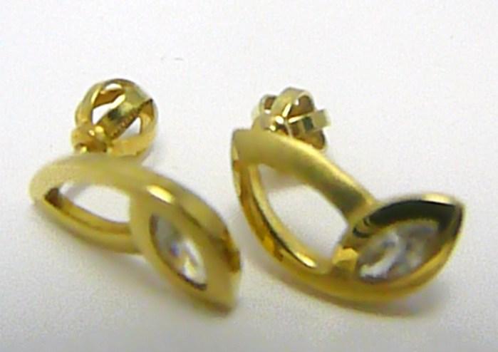 Zlaté dámské náušnice na šroubek se zirkony 585/1,95 gr Z052 POŠTOVNÉ ZDARMA!!