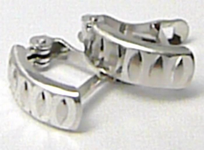 Gravírované zlaté náušnice z bílého zlata čtvrtkroužky 585/1,15gr H682 POŠTOVNÉ ZDARMA!! ( )