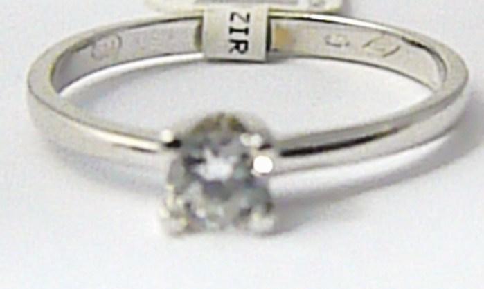 Zásnubní zlatý prstýnek z bílého zlata se zirkonem 585/1,55 gr vel. 55 P737 POŠTOVNÉ ZDARMA!!