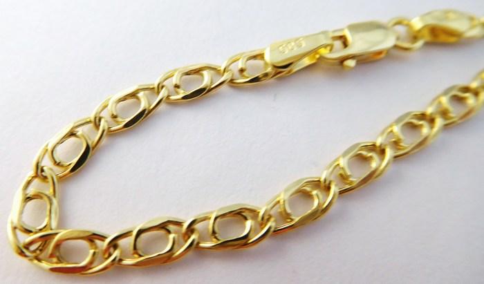 a5a99572a Mohutný pánský zlatý náramek šíře 3mm 585/1,80gr 21cm 3640136 POŠTOVNÉ  ZDARMA!!