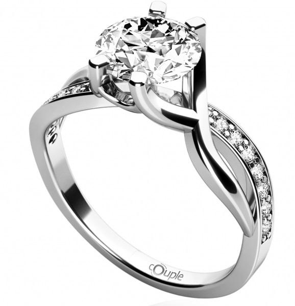 Zásnubní zlatý prsten se zirkonem 585/2,52gr vel. 57 4565065 POŠTOVNÉ ZDARMA!! (4565065)