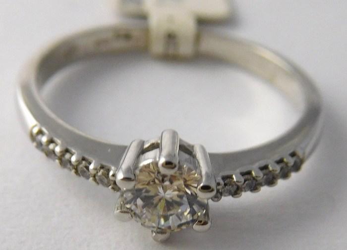 Zásnubní zlatý prsten z bílého zlata se zirkony vel. 62 585/2,05gr 3560219 (3560219 - POŠTOVNÉ ZDARMA!!!)