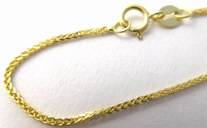 Silný pevný přívěskový zlatý řetízek šíře 1,0mm 585/1,73gr 50cm H737