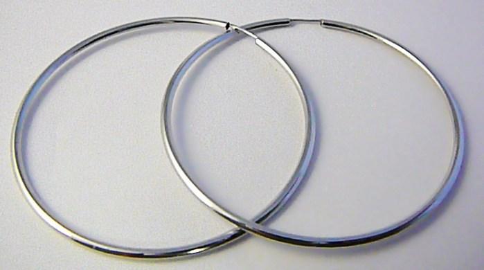Dámské obrovské velké kruhy z bílého zlata 50mm/5cm 585/1,70gr H757