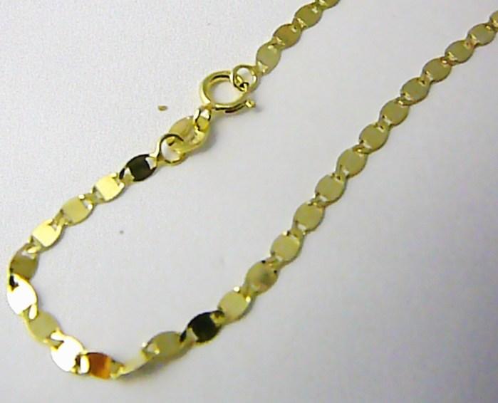 Mohutný luxusní zlatý řetízek ze žlutého zlata - šíře 2,5mm 585/2,48gr 50cm H761