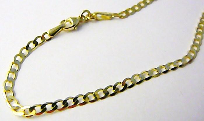 Pánský prodloužený mohutný zlatý řetěz PANCER 55cm 585/1,71gr H764