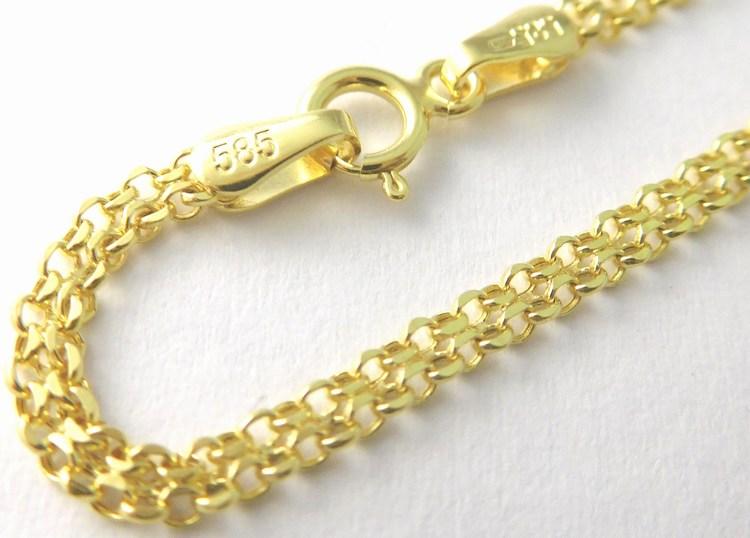 Mohutný široký zlatý řetízek (šířka 2,5mm) 585/2,27gr 50cm 3640065 (3640065 - POŠTOVNÉ ZDARMA)
