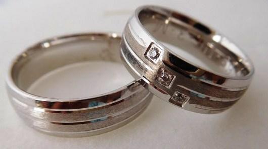 Exkluzivní zlaté snubní prsteny Couple 585/1000 s diamanty 65UE3M (65UE3M)