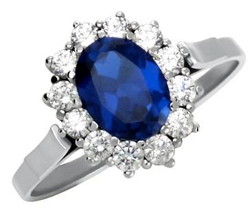 Replika zlatého prstenu prince Williama Kate Middletonové se safírem vel.60