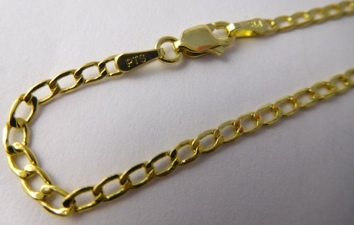fed21900d Pánský / dámský mohutný zlatý řetízek 50cm 585/2,62gr 3640158 ...