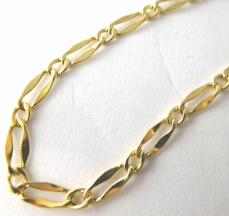 Pánský masivní mohutný zlatý řetěz šíře 3mm 50cm 585/2,10gr H836