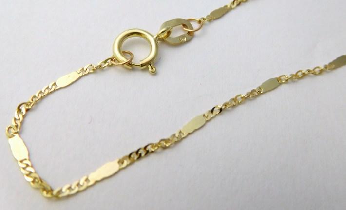Dětský zlatý řetízek TWIST s destičkou 585/0,92gr 38cm 3040435 (3040435)