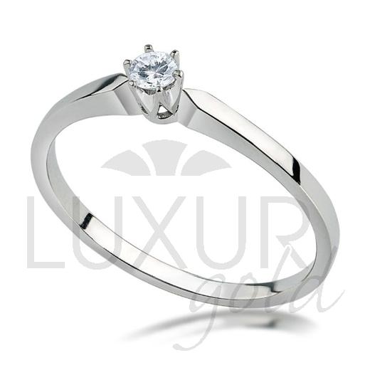 Zásnubní prsten bílé zlato se zirkonem vel. 55 585/1,62gr 1860271