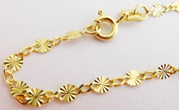 Dámský dlouhý elegantní zlatý gravírovaný řetízek řetěz 50cm 585/2,20gr 2840228 (2840228 - POŠTOVNÉ ZDARMA)