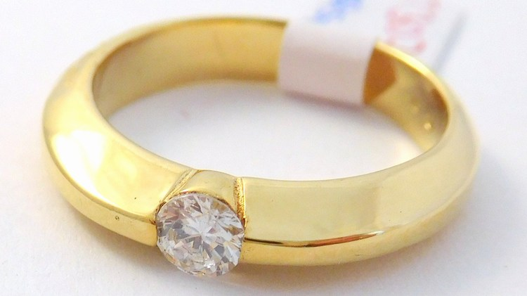 Mohutný zlatý zásnubní prsten se zirkonem 585/3,95gr vel. 52 T309X (POŠTOVNÉ ZDARMA!!! - T309X)