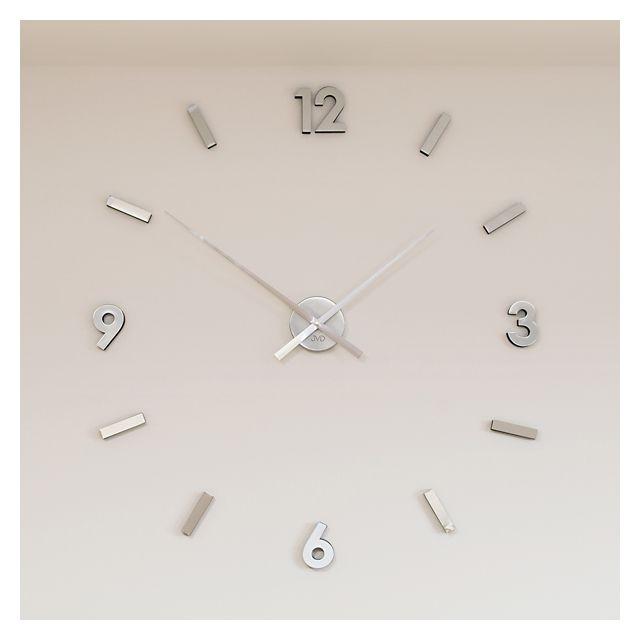 Nalepovací designové stříbrné hodiny JVD HW53.1 - stříbrné