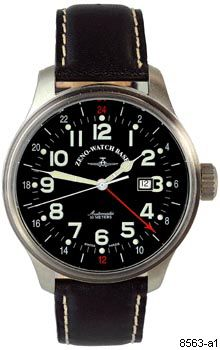 Hodinky Zeno-Watch Basel 8563-a1 Pilot Oversized GMT