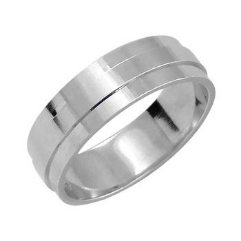 Zlatý snubní prsten č. 354 - 585/5,00g z bílého zlata