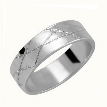 Zlatý snubní prsten č. 356 - 585/5,70g z bílého zlata