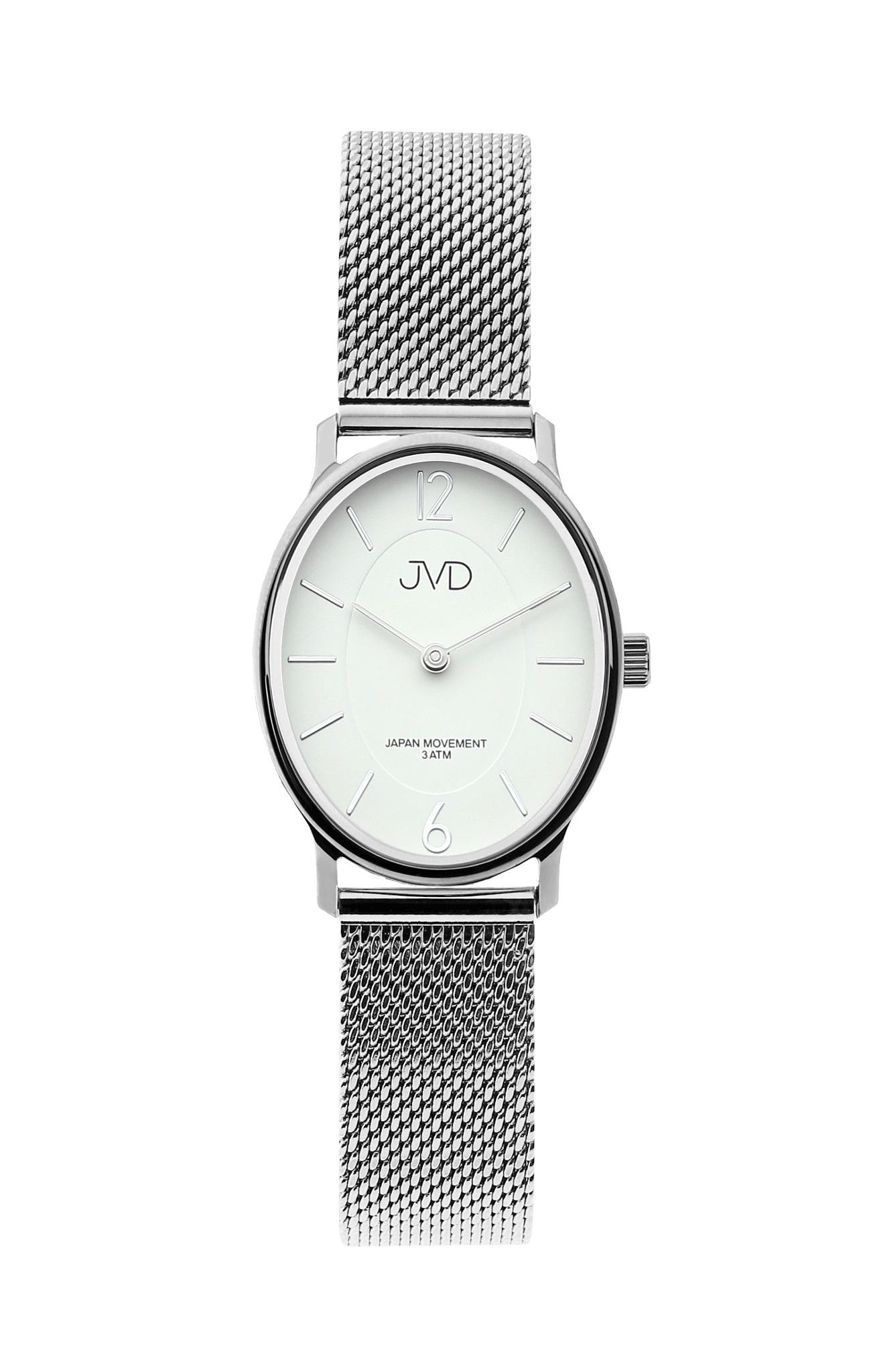 Dámské stříbrné oválné hodinky JVD J4163.1 (POŠTOVNÉ ZDARMA!!) d0a95e4636