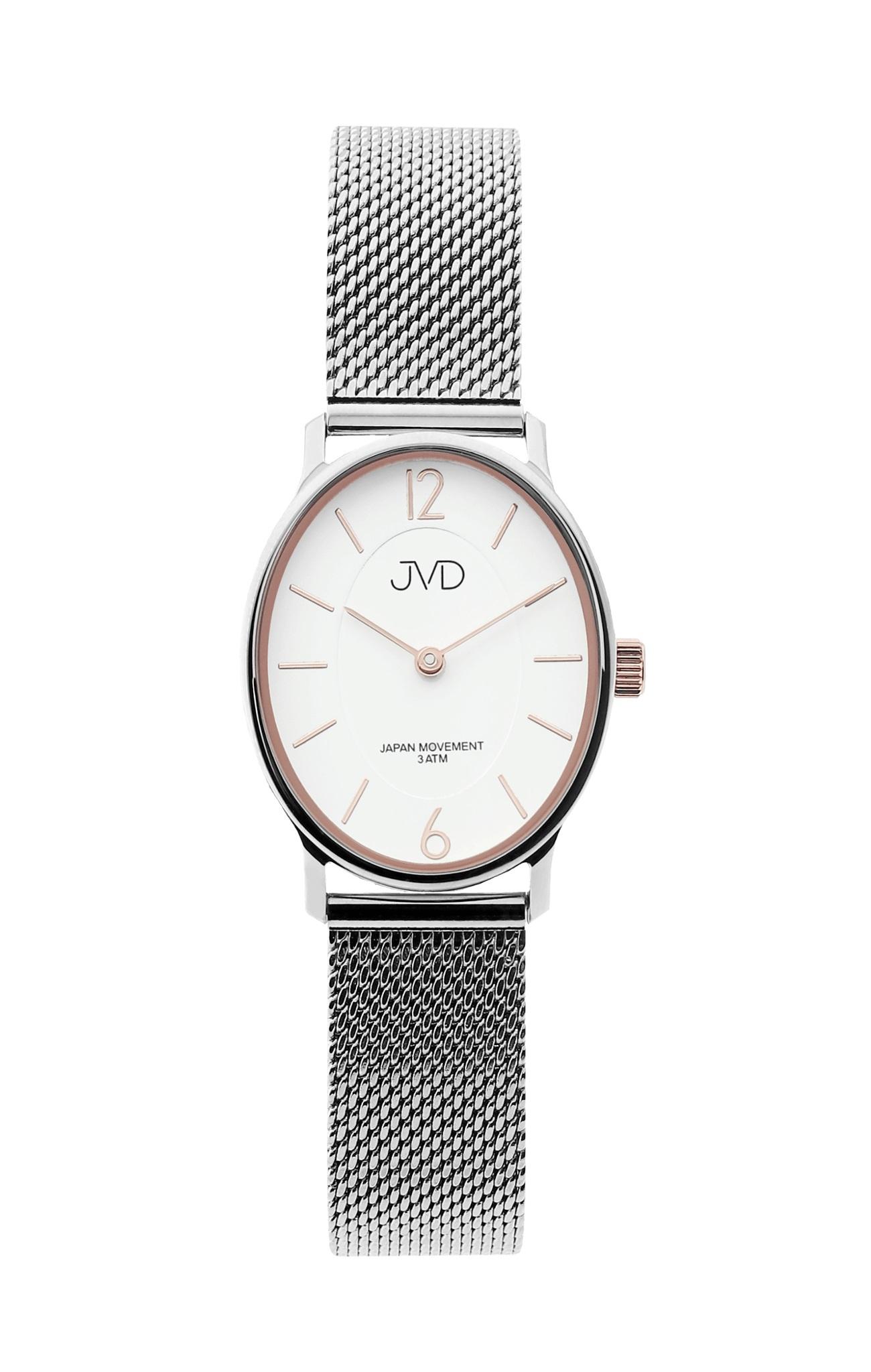 Dámské stříbrné oválné hodinky JVD J4163.3 (POŠTOVNÉ ZDARMA!!)