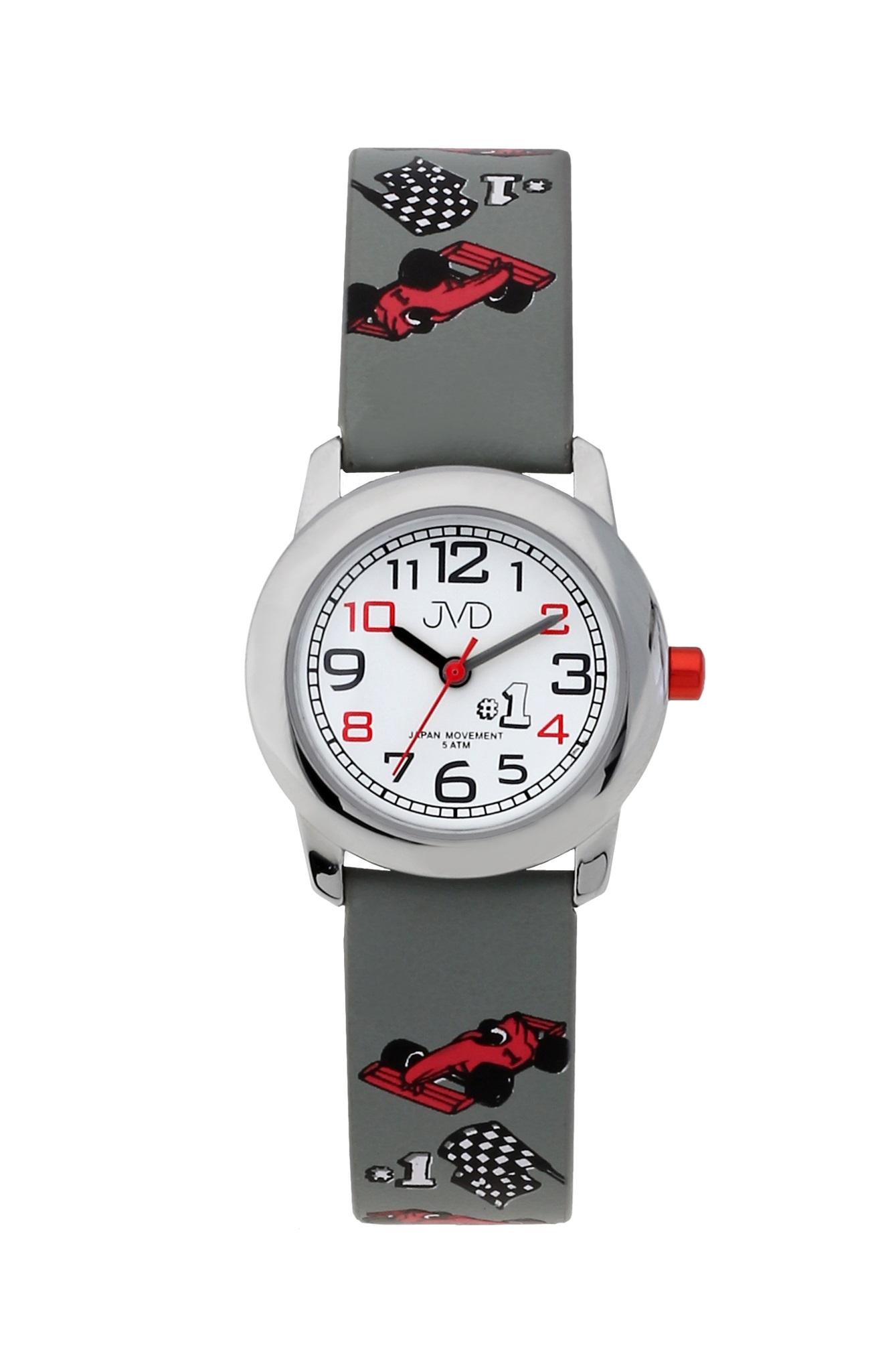 Chlapecké dětské náramkové hodinky JVD J7182.1 s formulí (chlapecké hodinky)