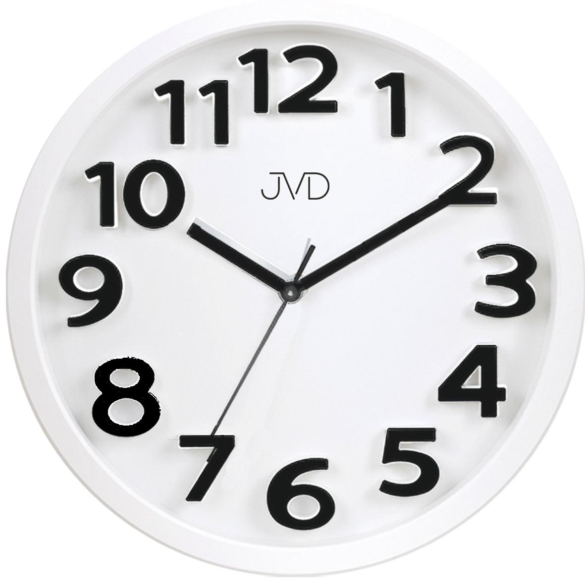 Bílé čitelné dětské hodiny JVD HA48.1 (dětské hodiny)