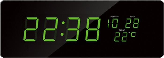 Velké svítící digitální moderní hodiny JVD DH2.1 se zelenými číslicemi (SKLADEM !!! DOPRAVA ZDARMA)