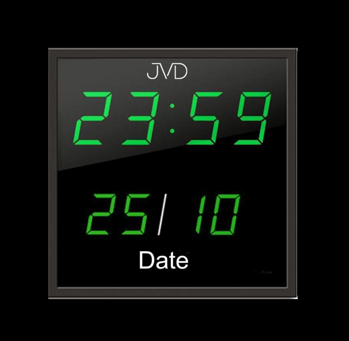 Velké svítící digitalní nástěnné hodiny JVD DH41.1 se zelenými číslicemi (DOPRAVA ZDARMA)