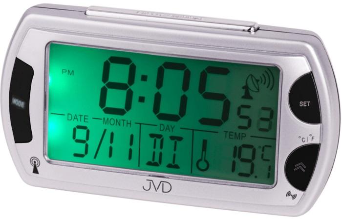 Rádiem řízený digitální budík JVD RB358 s teploměrem a podsvícením