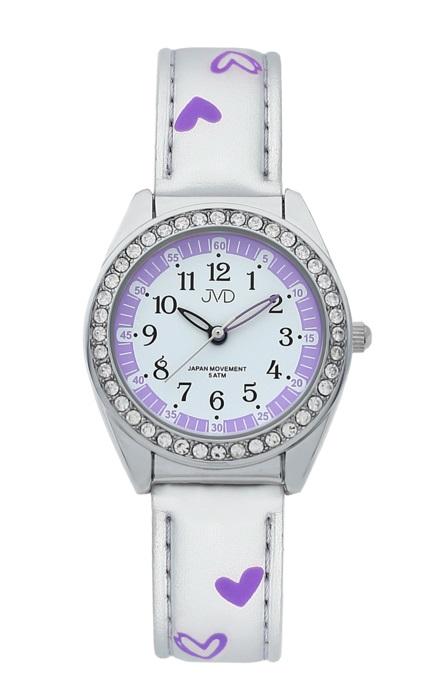 Dětské dívčí hodinky JVD basic J7117.6 se zirkony a srdíčky (POŠTOVNÉ ZDARMA!!!)