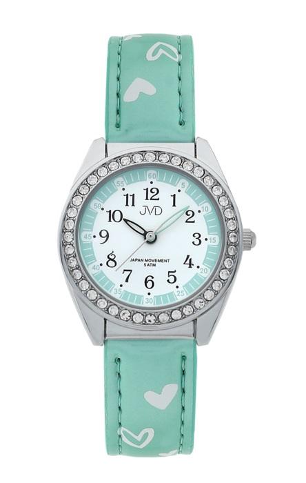 Dětské dívčí hodinky JVD basic J7117.7 se zirkony a srdíčky (POŠTOVNÉ ZDARMA!!!)