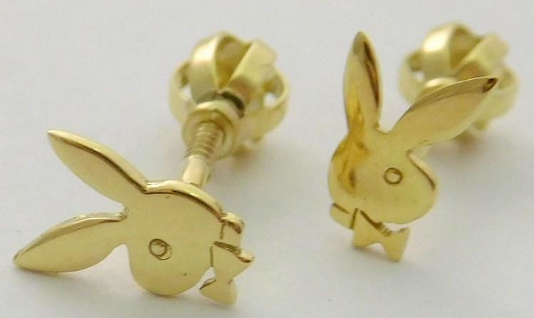 Zlaté náušnice (pecičky na šroubek PLAYBOY) ze žlutéhoa zlata 585/0,92gr 6830427 (6830427 - POŠTOVNÉ ZDARMA!!)