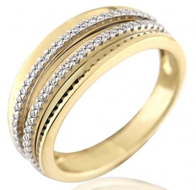 Elegantní diamantový prsten ze žlutého zlata ARISTEO s brilianty 3953256 (3953256 - POŠTOVNÉ ZDARMA!!! velikost libovolná)