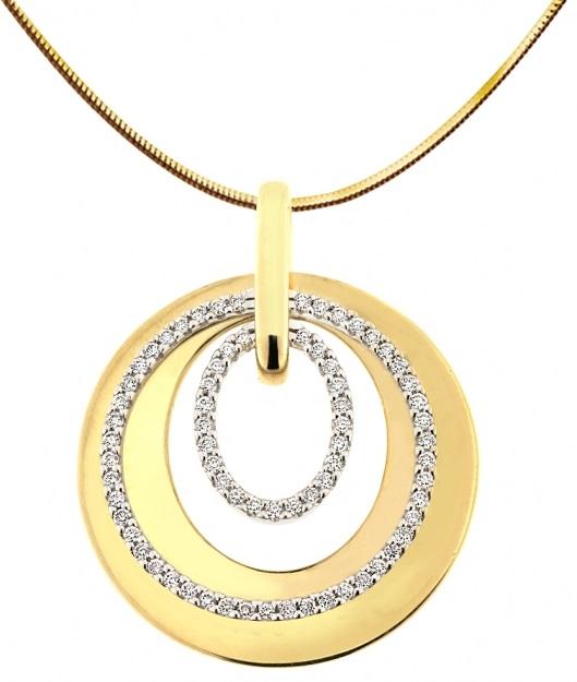 Elegantní diamantový přívěsek ze žlutého zlata ARISTEO s brilianty 3953257 (3953257 - POŠTOVNÉ ZDARMA!!! )