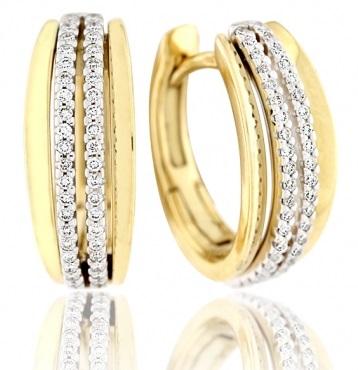 Elegantní diamantové náušnice ze žlutého zlata ARISTEO s brilianty 3953258 (3953258 - POŠTOVNÉ ZDARMA!!! )
