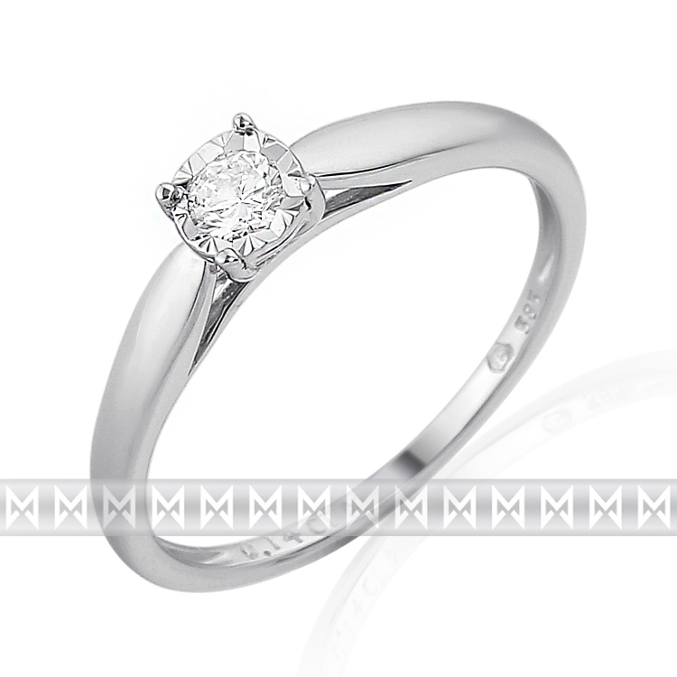 Zásnubní diamantový prsten zdobený diamanty v bílém zlatě RHODA 3862170 (3862170 - POŠTOVNÉ ZDARMA!!! velikost libovolná)