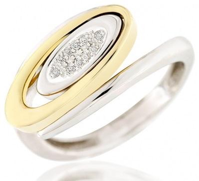 Elegantní diamantový prsten ze žlutého zlata AGAPE s brilianty 1750127 (1750127 - POŠTOVNÉ ZDARMA!!! velikost libovolná)